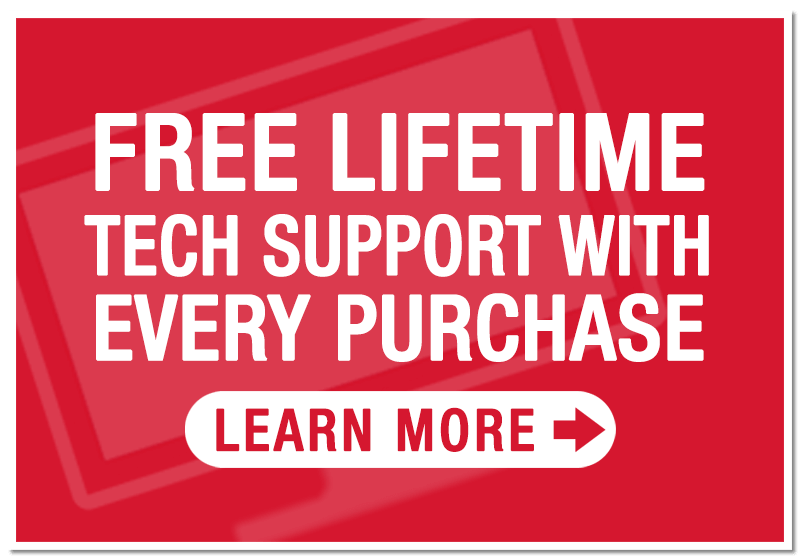 Free Lifetime tech support for every purchase made at Love TV